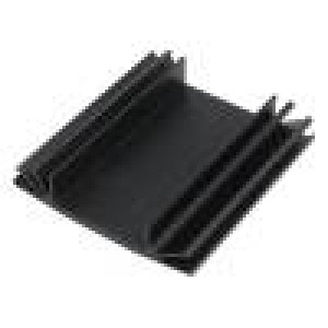 Chladič lisovaný TO3 černá L:75mm W:70mm H:15mm 3,7K/W