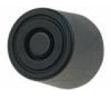 Nožička pro rychlou montáž černá polyetylén A:8mm B:20mm