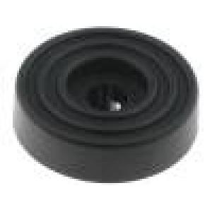 Nožička pro rychlou montáž černá polyetylén A:10mm B:27mm