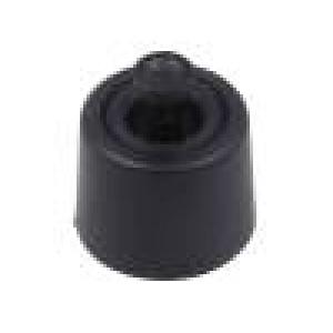 Nožička pro rychlou montáž černá polyetylén A:8,1mm B:20mm