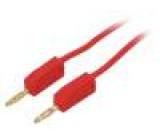 PPOM-TL2-05/R Měřicí šňůra 0,5m červená Průř.vod:0,5mm2
