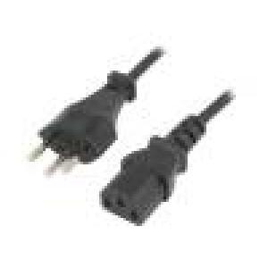 Kabel IEC C13 zásuvka, vidlice SEV-1011 (J) 1,8m černá PVC