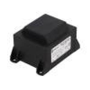 Transformátor: zalévaný 20VA 230VAC 18V 1111,1mA Montáž: PCB
