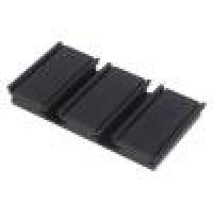 Chladič lisovaný TO218,TO220,TO247,TO264,TO3 černá L:50mm