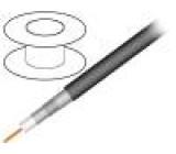 Kabel: koaxiální RG11 1x75Ω drát CCS PVC černá 305m