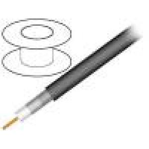 Kabel: koaxiální RG11 1x75Ω drát Cu PVC černá 305m