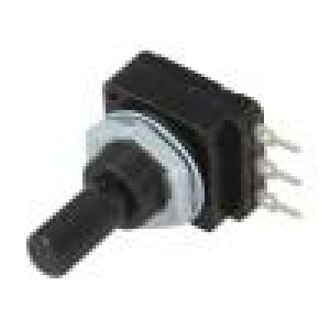 Potenciometr: axiální jednootáčkový 1MΩ 60mW PCB 6mm plast