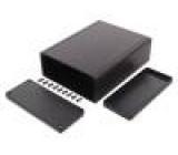 Kryt: s panelem 1455 X:125mm Y:160mm Z:51,5mm hliník černá