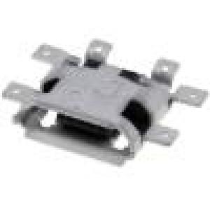 Zásuvka USB B micro SMT PIN:5 V: USB 2.0,middle board mount