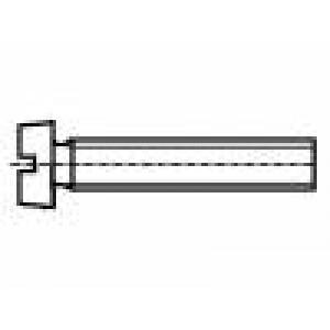 Šroub M3,5x10 Hlava:  Drážka: plochá ocel zinek DIN:84