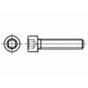 8 Hlava:  Drážka: imbus ocel černěné HEX 3 mm