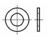 Podložka kulatá M1 D=2,5mm h=0,3mm ocel Povlak: zinek DIN:433