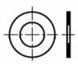 Podložka kulatá M12 D=24mm h=0,5mm pružná ocel DIN:988