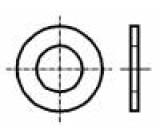 Podložka kulatá M2,5 D=6mm h=0,5mm prešpán DIN:125A BN:1076