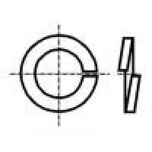Podložka pérová M2,5 D=5,1mm h=0,6mm ocel Povlak: zinek