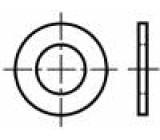 Podložka kulatá M2 D=5mm h=0,3mm prešpán BN:1077 Barva: hnědá
