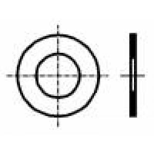 Podložka kulatá M3 D=6mm h=0,2mm ocel DIN:988 BN:1976