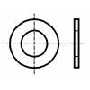 Podložka kulatá M3 D=7mm h=0,5mm plast DIN:125A BN:1074