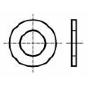 Podložka kulatá M3 D=7mm h=0,5mm prešpán DIN:125A BN:1076