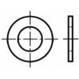 Podložka kulatá M3 D=7mm h=0,5mm prešpán BN:1077 Barva: hnědá