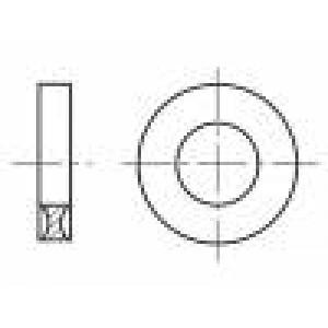 Podložka kulatá M3 D=8mm h=2,2mm polyamid BN:1078