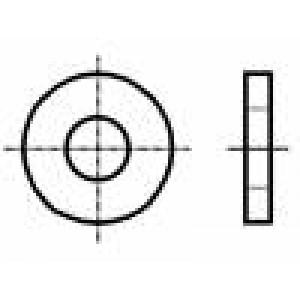 Podložka kulatá M3 D=9mm h=1mm nerezová ocel A2 DIN:7349