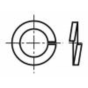 Podložka kulatá, pérová M3 D=5,6mm h=1mm pružná ocel BN:1373