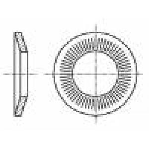 Podložka kónická M3 D=8mm h=1mm nerezová ocel A2 BN:2332