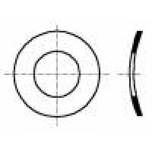 Podložka pérová, vypouklá M3 D=6mm h=0,65mm nerezová ocel A2