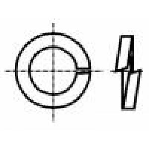 Podložka pérová M3 D=5,6mm h=1mm ocel Povlak: zinek DIN:7980