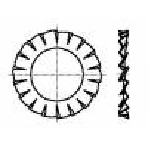 Podložka s vnějším zoubkováním M3 D=6mm h=0,4mm ocel BN:781