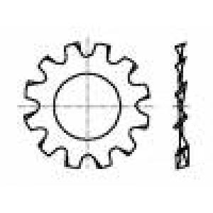 Podložka s vnějším zoubkováním M3 D=6mm h=0,4mm ocel BN:789