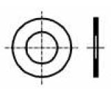 Podložka kulatá M3 D=6mm h=0,1mm ocel DIN:988 BN:1976