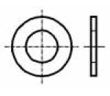 Podložka kulatá M4 D=9mm h=0,8mm plast DIN:125A BN:1074