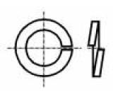 Podložka pérová M4 D=7,6mm h=0,9mm nerezová ocel A2 DIN:127B