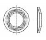 Podložka kónická M5 D=12mm h=1,8mm pružná ocel Povlak: zinek