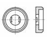 Podložka kulatá, speciální M5 D=12,7mm h=3,4mm polyamid