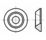 Podložka pro šrouby se zápust.hlavou M6 D=18mm h=3,3mm