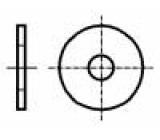 Podložka kulatá M6 D=18mm h=1,6mm ocel Povlak: zinek DIN:9021