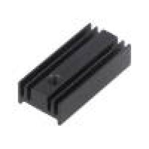 Chladič lisovaný TO220 černá L:25,4mm W:12mm H:6,5mm 40K/W