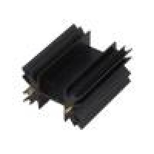 Chladič lisovaný TO220 černá L:50,8mm 5,3K/W eloxovaný