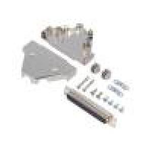 Zástrčka D-Sub PIN:62 zásuvka stíněný pájení na kabel