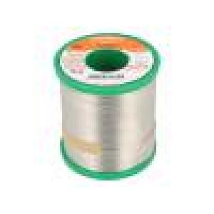 Pájka Sn99Cu1 drát 1mm 1kg Tavidlo: F-SW26,No Clean, ROM1