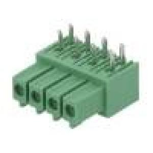 Rozpojovací svorkovnice 3,5mm póly:4 úhlové 90° zásuvka THT