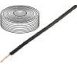 Vodič licna Cu 1x0,75mm2 PVC černá 250V -20÷80°C 25m Třída:6
