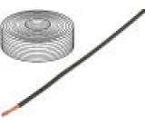 Vodič licna Cu 1x1,5mm2 silikon černá 250V -60÷180°C 25m