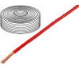 Vodič licna Cu 1x2,5mm2 silikon červená 250V -60÷180°C 25m