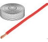 Vodič licna Cu 1x4mm2 silikon červená 250V -60÷180°C 25m