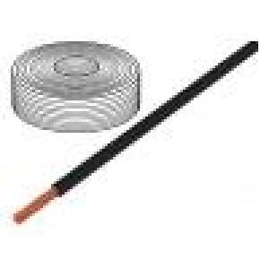 Vodič LifY licna Cu 1x10mm2 PVC černá 450/750V -15÷80°C 100m