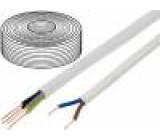 Vodič YDY kulatý drát Cu 3x2,5mm2 PVC bílá 450/750V